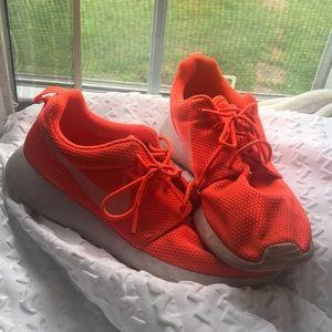 Neon Orange NIKE Roshes Size 9